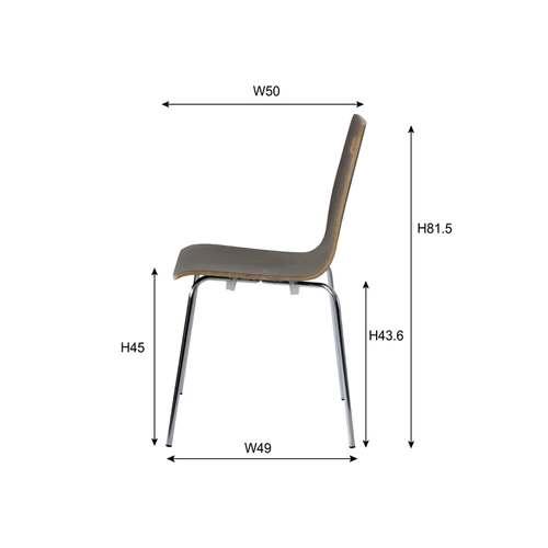 スタッキングチェア ア・デュエシリーズ A2-301 ヴァーゴチェア クロームメッキ仕上げ 成型合板商品画像5