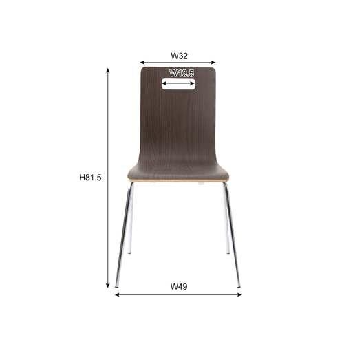 スタッキングチェア ア・デュエシリーズ A2-301 ヴァーゴチェア クロームメッキ仕上げ 成型合板商品画像6