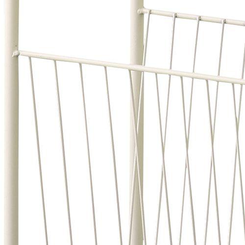 サイドテーブル スチールフレーム 天板木(パイン) マガジンラック付き W400×D200×H500(mm)商品画像7