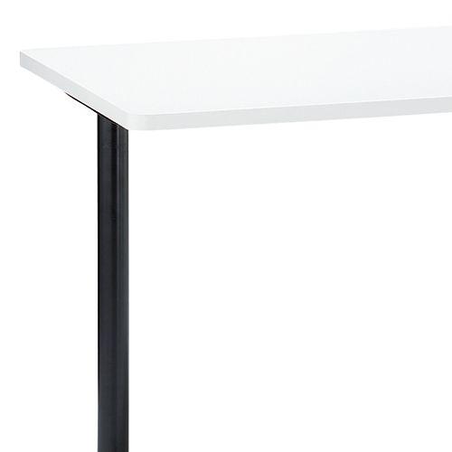 会議用テーブル 2本T字脚テーブル AL-1275 W1200×D750×H700(mm) ブラックカラー&アルミダイキャストベース脚商品画像6