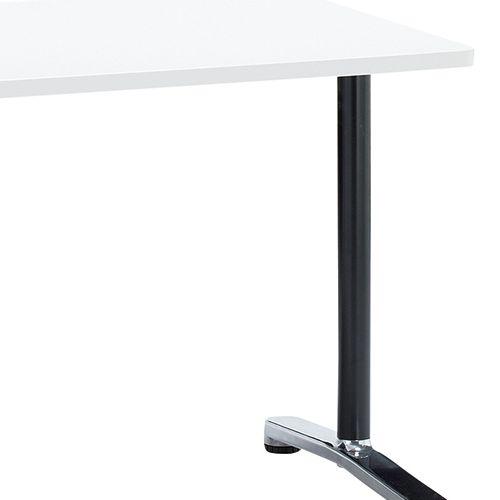 会議用テーブル 2本T字脚テーブル AL-1275 W1200×D750×H700(mm) ブラックカラー&アルミダイキャストベース脚商品画像7