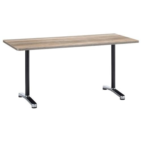 会議用テーブル 2本T字脚テーブル AL-1575 W1500×D750×H700(mm) ブラックカラー&アルミダイキャストベース脚のメイン画像