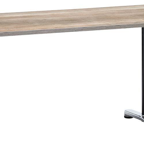 会議用テーブル 2本T字脚テーブル AL-1875 W1800×D750×H700(mm) ブラックカラー&アルミダイキャストベース脚商品画像5