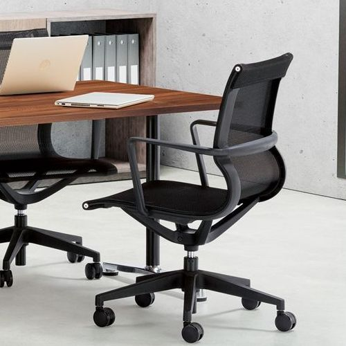 会議用テーブル 2本T字脚テーブル AL-1875 W1800×D750×H700(mm) ブラックカラー&アルミダイキャストベース脚商品画像7