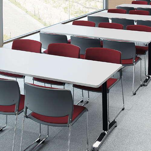 テーブル(会議用) アイコ 2本固定脚 AL-1875K W1800×D750×H700(mm) 角形天板 アルミダイキャストベース商品画像5