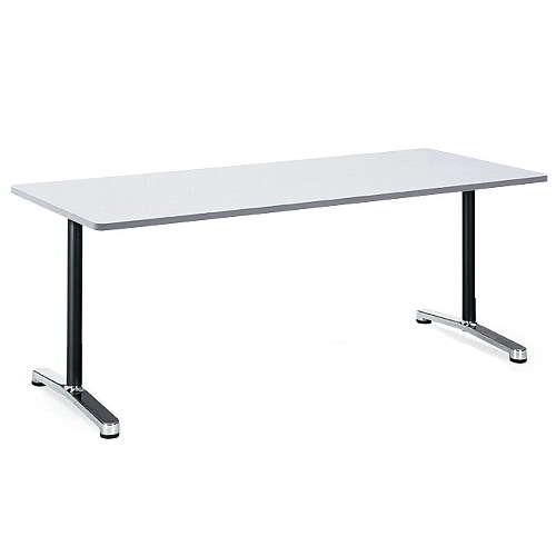 テーブル(会議用) アイコ 2本固定脚 AL-1875K W1800×D750×H700(mm) 角形天板 アルミダイキャストベースのメイン画像