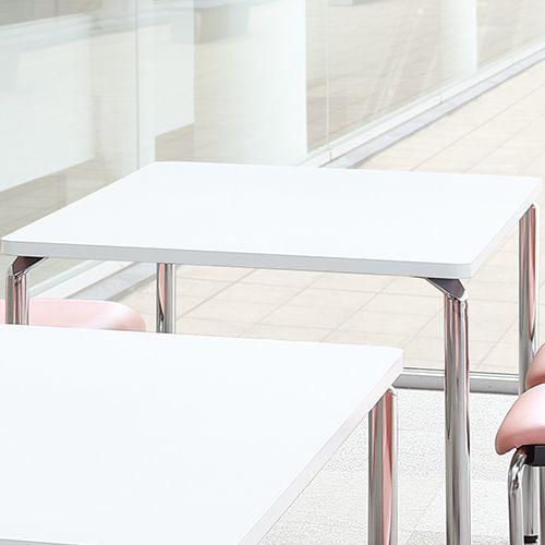 会議用テーブル AR-1275 W1200×D750×H700(mm) クロームメッキ4本脚テーブル リフレッシュ・ラウンジテーブル商品画像4
