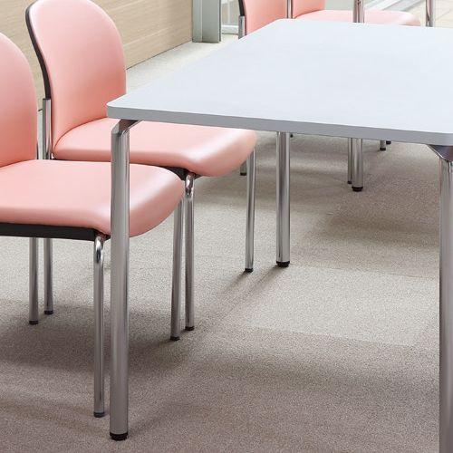 【廃番】会議用テーブル 4本脚テーブル AR-1275K W1200×D750×H700(mm) クロームメッキ商品画像4