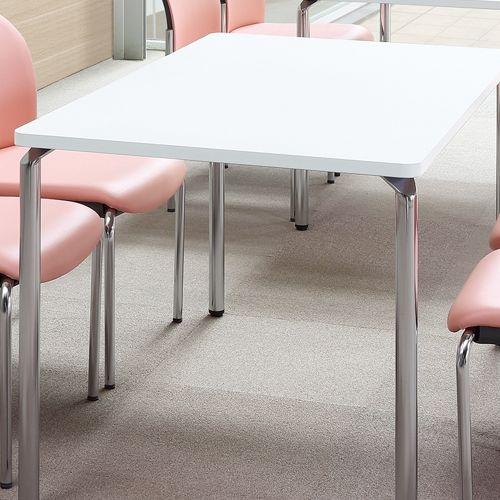 会議用テーブル AR-1575 W1500×D750×H700(mm) クロームメッキ4本脚テーブル リフレッシュ・ラウンジテーブル商品画像4