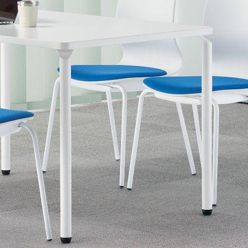 会議用テーブル ARW-1275 W1200×D750×H700(mm) ホワイト粉体塗装4本脚テーブル リフレッシュ・ラウンジテーブル商品画像9