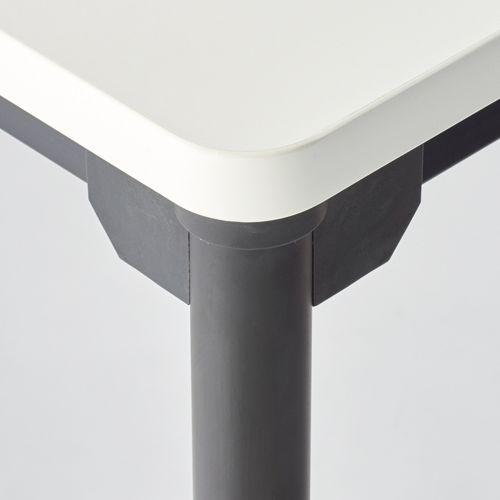 会議用テーブル 4本脚テーブル スチールパイプ・ブラック塗装 ATB-1275 W1200×D750×H700(mm)商品画像3