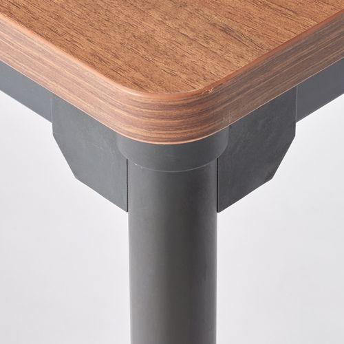会議用テーブル 4本脚テーブル スチールパイプ・ブラック塗装 ATB-1275 W1200×D750×H700(mm)商品画像4