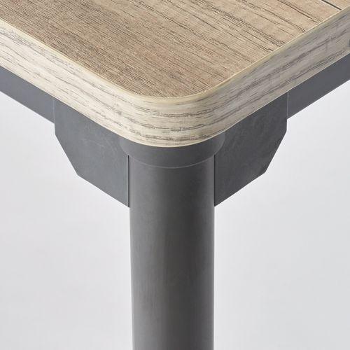 会議用テーブル 4本脚テーブル スチールパイプ・ブラック塗装 ATB-1875 W1800×D750×H700(mm)商品画像5