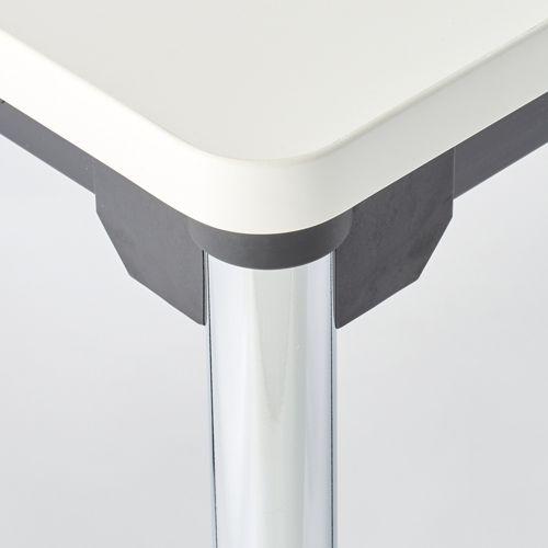 会議用テーブル 4本脚テーブル スチールパイプ・クロームメッキ ATM-1275 W1200×D750×H700(mm)商品画像3