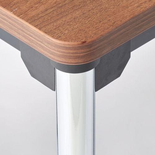 会議用テーブル 4本脚テーブル スチールパイプ・クロームメッキ ATM-1275 W1200×D750×H700(mm)商品画像4