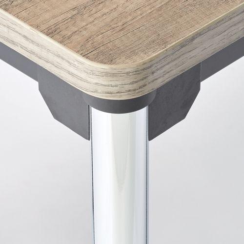 会議用テーブル 4本脚テーブル スチールパイプ・クロームメッキ ATM-1275 W1200×D750×H700(mm)商品画像5
