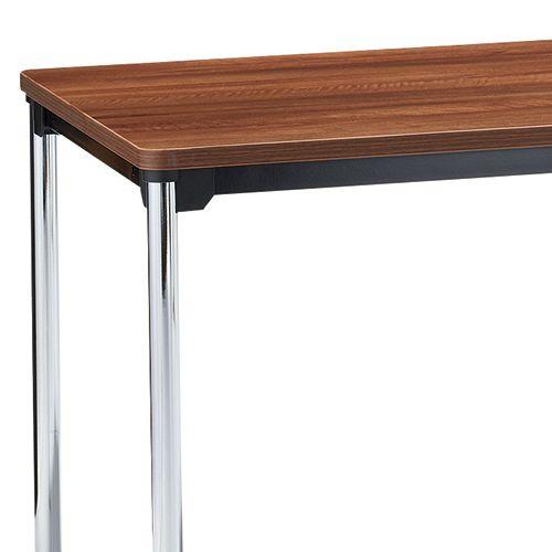 会議用テーブル 4本脚テーブル スチールパイプ・クロームメッキ ATM-1275 W1200×D750×H700(mm)商品画像8