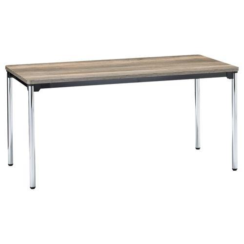 会議用テーブル 4本脚テーブル スチールパイプ・クロームメッキ ATM-1575 W1500×D750×H700(mm)のメイン画像