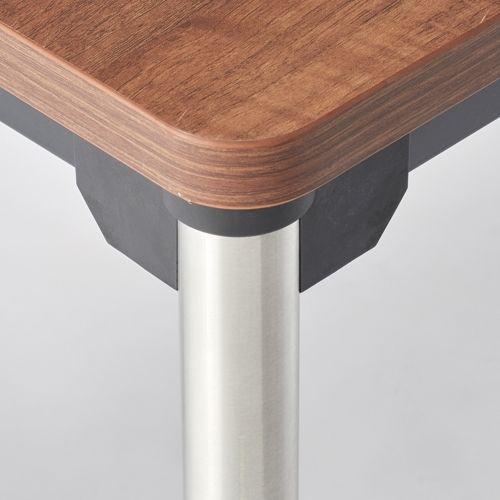 会議用テーブル 4本脚テーブル ステンレスパイプ ATX-1275 W1200×D750×H700(mm)商品画像4