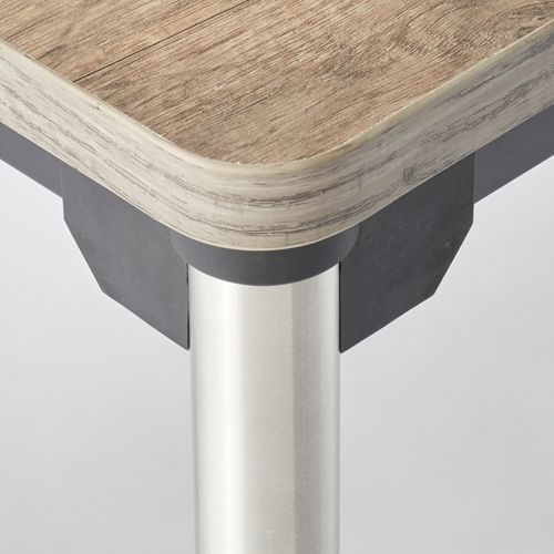 会議用テーブル 4本脚テーブル ステンレスパイプ ATX-1275 W1200×D750×H700(mm)商品画像5