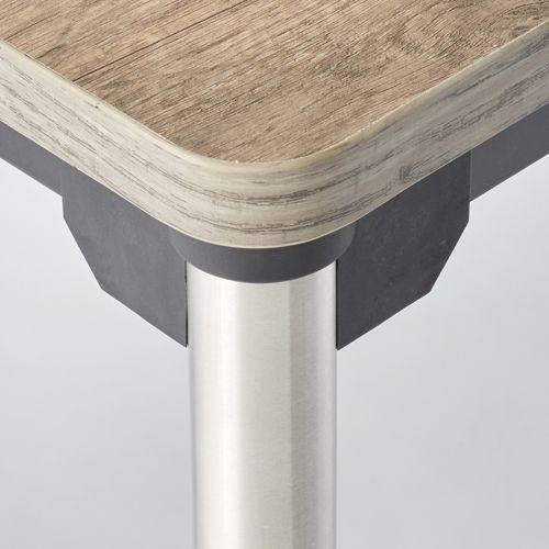 会議用テーブル 4本脚テーブル ステンレスパイプ ATX-1575 W1500×D750×H700(mm)商品画像5