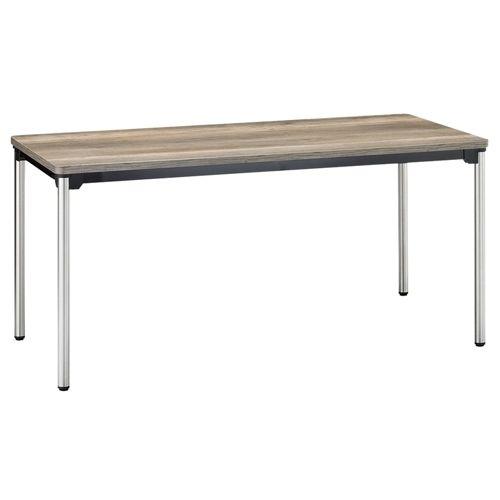 会議用テーブル 4本脚テーブル ステンレスパイプ ATX-1575 W1500×D750×H700(mm)のメイン画像