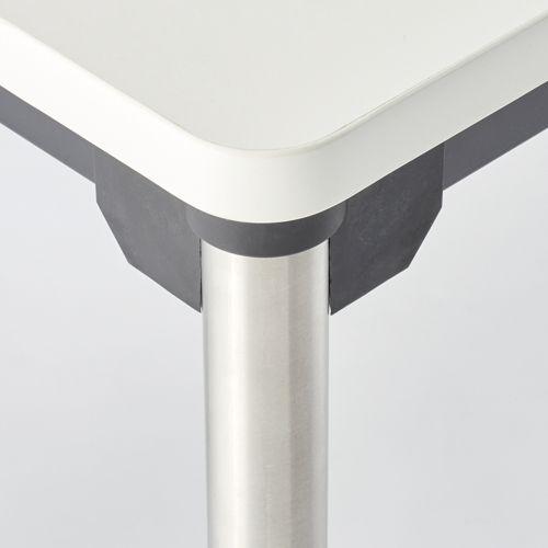 会議用テーブル 4本脚テーブル ステンレスパイプ ATX-1875 W1800×D750×H700(mm)商品画像3