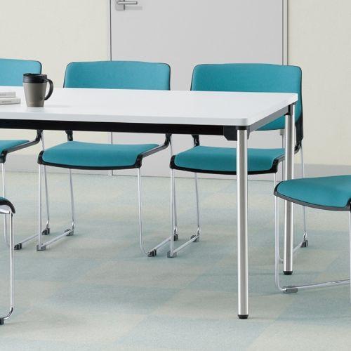 会議用テーブル 4本脚テーブル ステンレスパイプ ATX-1875 W1800×D750×H700(mm)商品画像9