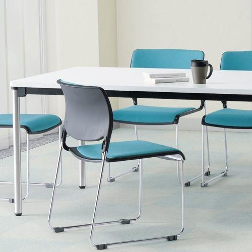会議用テーブル 4本脚テーブル ステンレスパイプ ATX-1875 W1800×D750×H700(mm)商品画像10