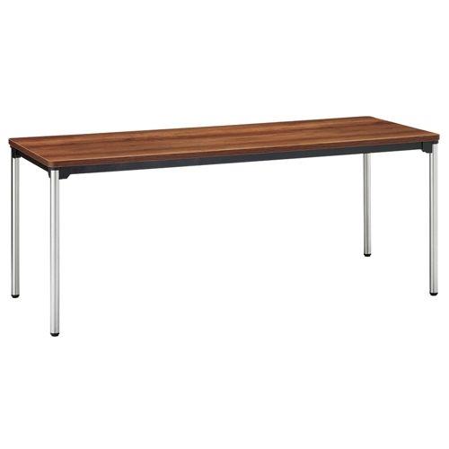会議用テーブル 4本脚テーブル ステンレスパイプ ATX-1875 W1800×D750×H700(mm)のメイン画像