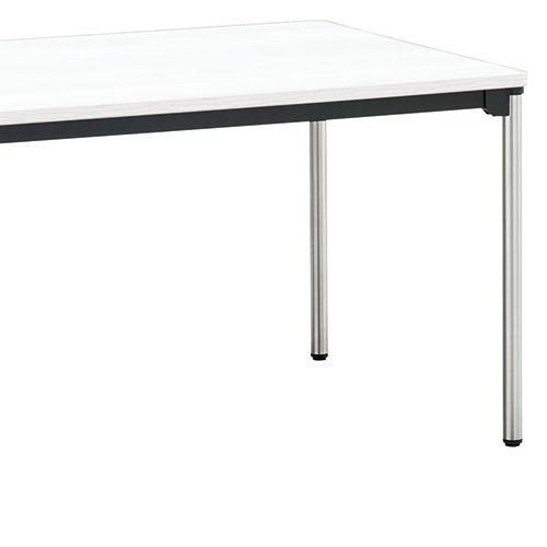 会議用テーブル 4本脚テーブル ステンレスパイプ ATX-1890 W1800×D900×H700(mm)商品画像8