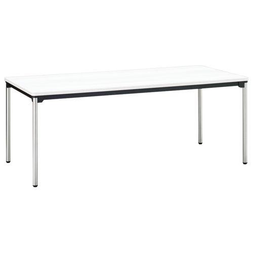 会議用テーブル 4本脚テーブル ステンレスパイプ ATX-1890 W1800×D900×H700(mm)のメイン画像