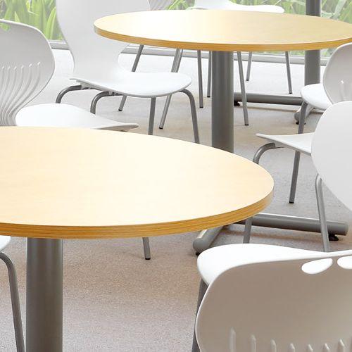 【廃番】会議用テーブル 円形天板 900φ BTS-900R W900×D900×H720(mm) 1本+クロス脚 シルバー塗装脚 アジャスター付き商品画像5