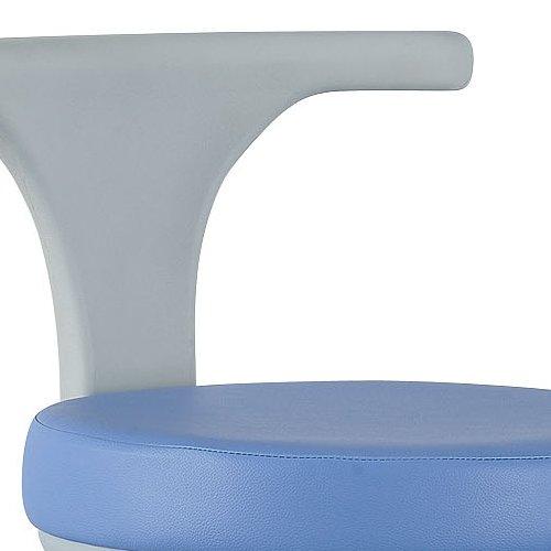 丸椅子 井上金庫(イノウエ) 病院福祉施設向けチェア CCM-01 背付き商品画像2