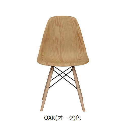 チェア AZUMAYA(東谷) CL-894 ABS樹脂 木目調商品画像4