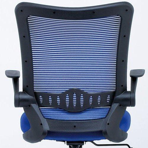 【廃番】チェア(椅子) 井上金庫(イノウエ) メッシュチェア ハイバック CPB-15A 肘あり商品画像4