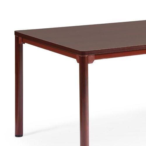 会議用テーブル CTH-1890 W1800×D900×H700(mm) ダークトーン 4本脚テーブル アジャスター付商品画像4