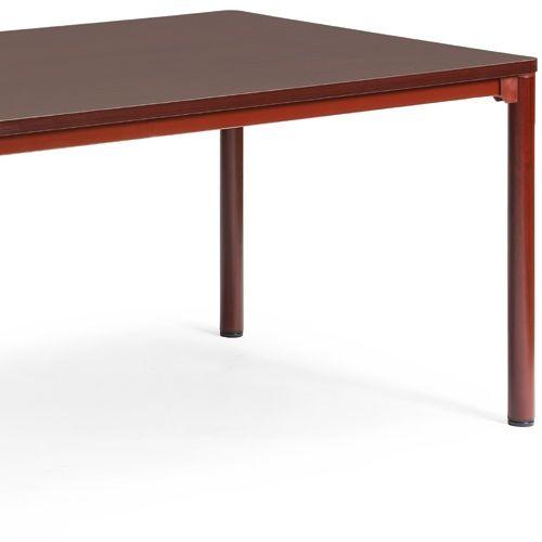 会議用テーブル CTH-1890 W1800×D900×H700(mm) ダークトーン 4本脚テーブル アジャスター付商品画像5