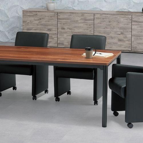 会議用テーブル CTH-1890-M10 W1800×D900×H700(mm) ブラックカラー塗装4本脚テーブル商品画像7