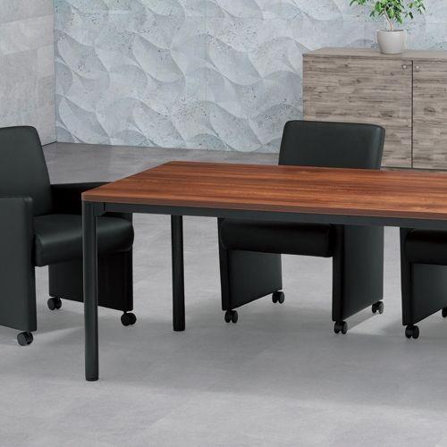 会議用テーブル CTH-1890-M10 W1800×D900×H700(mm) ブラックカラー塗装4本脚テーブル商品画像8