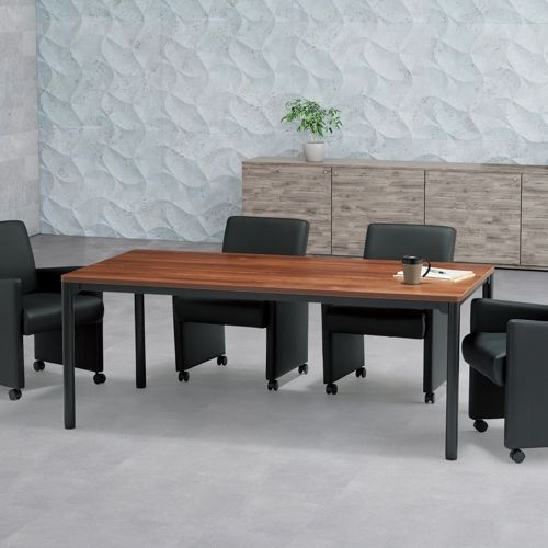 会議用テーブル CTH-1890-M10 W1800×D900×H700(mm) ブラックカラー塗装4本脚テーブル商品画像9