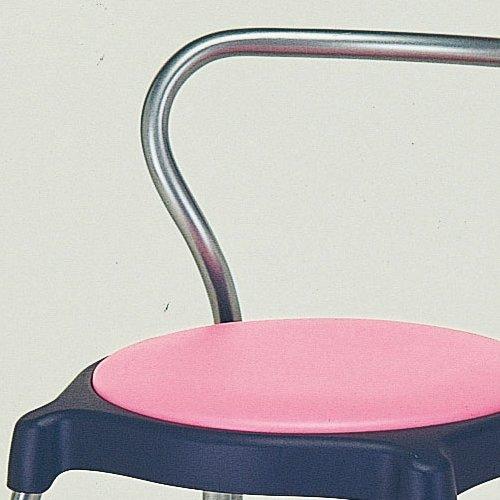 【廃番】介護用丸椅子 井上金庫(イノウエ) cuppo-B 背付き商品画像2