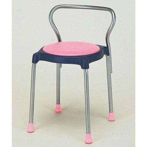 介護用丸椅子 cuppo-B 背付きのメイン画像