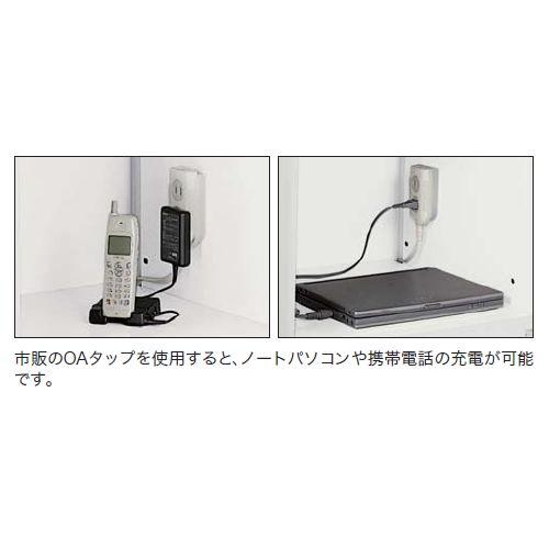 キャビネット・収納庫 パーソナルロッカー 2人用 ダイヤル錠 ホワイトカラー CW型 CW-0904PL2-WW W899×D450×H400(mm)商品画像5