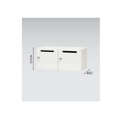 キャビネット・収納庫 パーソナルロッカー 2人用 ダイヤル錠 ホワイトカラー CW型 CW-0904PL2-WW W899×D450×H400(mm)のメイン画像