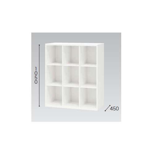 多目的棚 ナイキ H1050mm ホワイトカラー CW型 CW-0911NT-W W899×D450×H1050(mm)のメイン画像