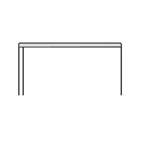 キャビネット・収納庫 薄型スチール天板 ホワイトカラー CW型 CW-900WTU-W W899×D450×H15(mm)商品画像2