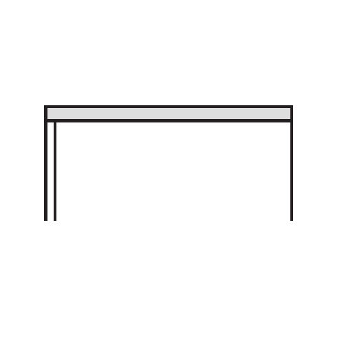 キャビネット・収納庫 天板 ホワイトカラー CWS型 CWS-900TP W899×D400×H26(mm)商品画像3