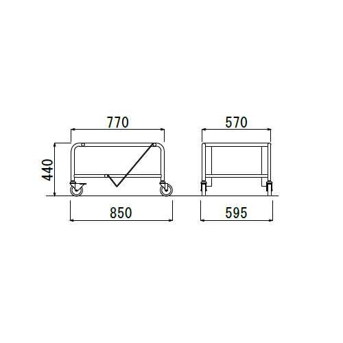 スタッキングチェア専用台車 アイコ D-13 (MC-163・MC-173・MC-183他)商品画像2