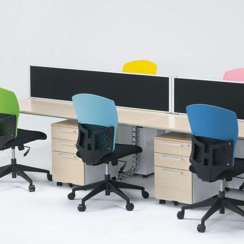 チェア(椅子) 井上金庫(イノウエ) 樹脂メッシュチェア D4C-07 肘なし商品画像7
